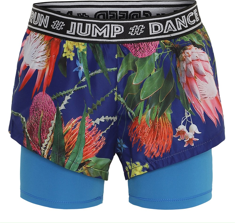 Omari - Wild Flowers - Floral sports shorts