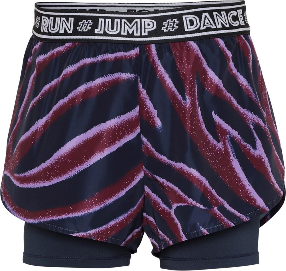 Omari - Zebra Stripes - Two-part sports shorts with zebra print