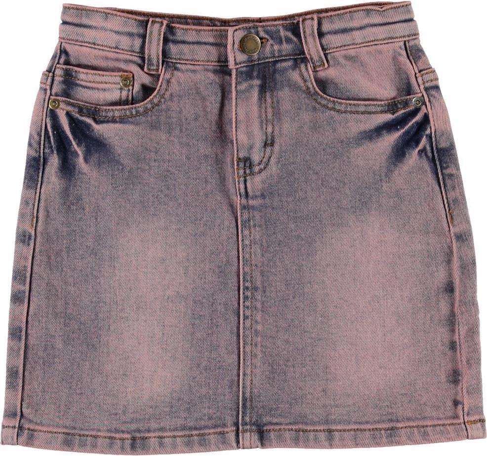 Babette - Hyper Wash Denim - Denim skirt in pink