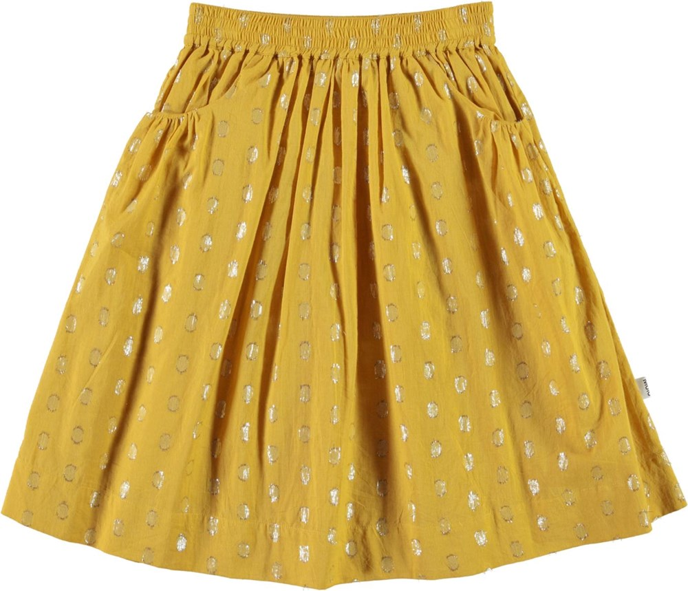 Baili - Nugget Gold - Yellow skirt with gold dots