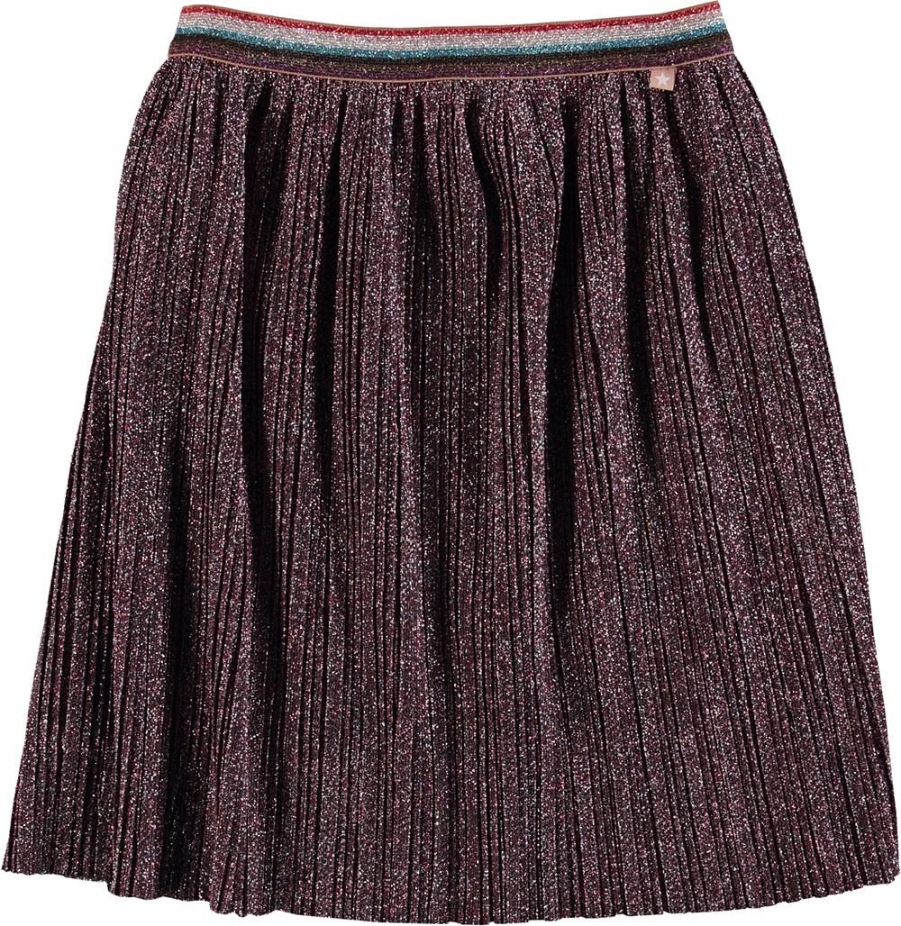 Bailini - Alpine Glitter - Pleated midi skirt with glitter.