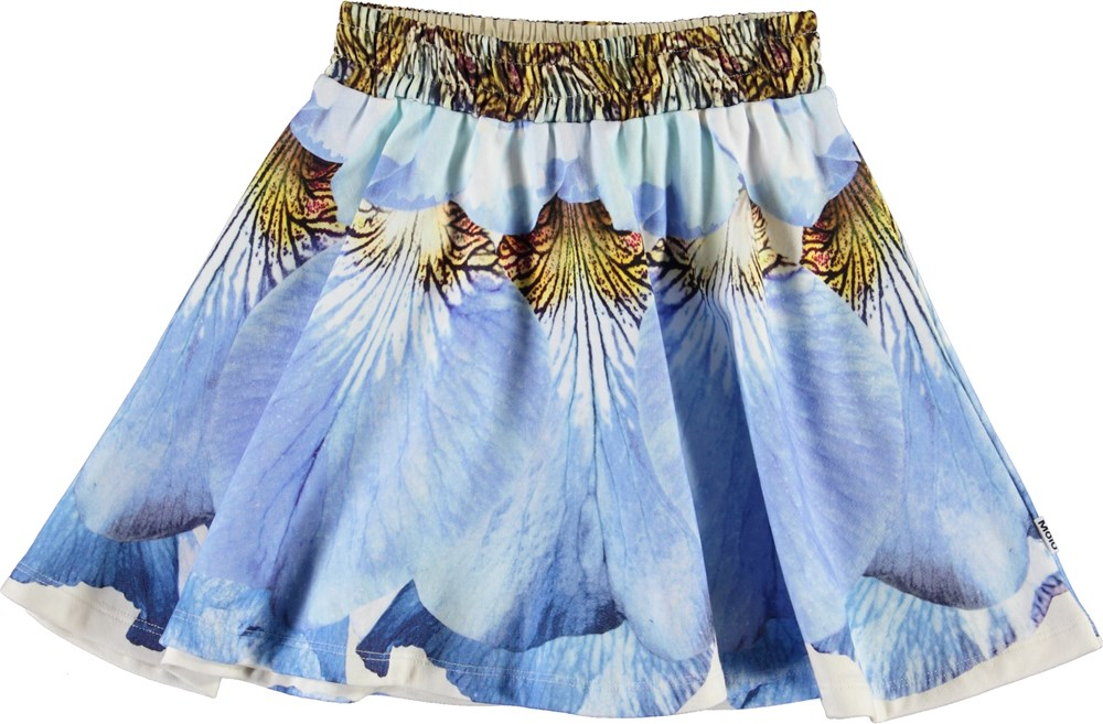 Barbera - Blue Petals - Organic skirt with flower petals