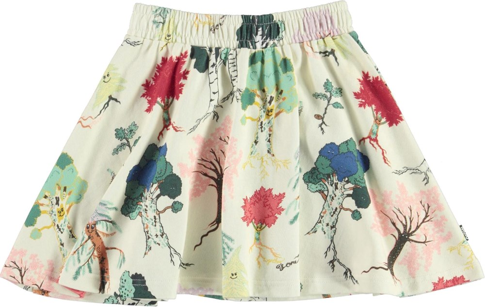 Barbera - Forest Friends - Organic skirt with tree print
