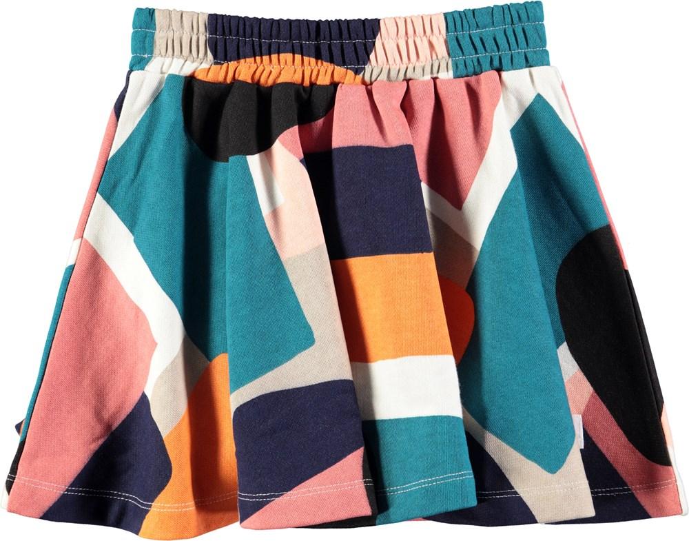 Barbera - Papercut AOP - Skirt with graphic paper cut pattern