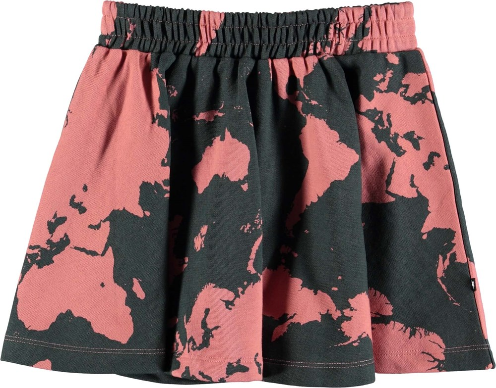 Barbera - World Map - Skirt with digital world map print