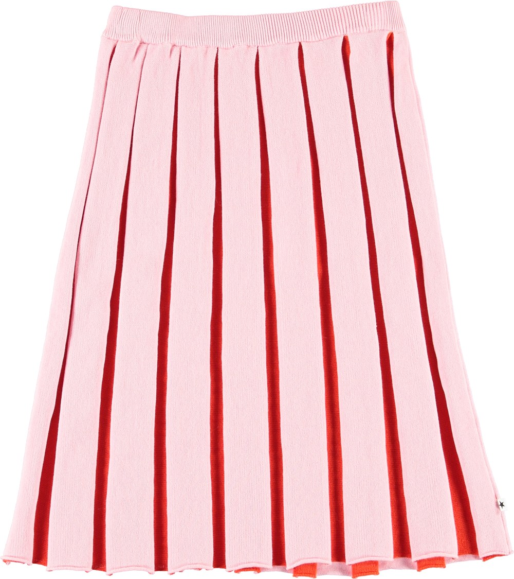 Barrie - Kawaii - Pink and red pleated skirt