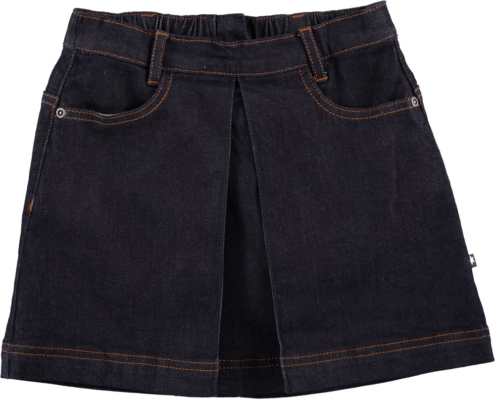 Beatrice - Raw Indigo - Dark blue denim skirt - molo