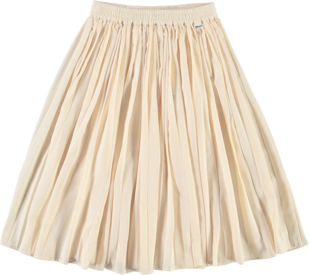 Becky - Banana Crepe - Yellow pleated skirt