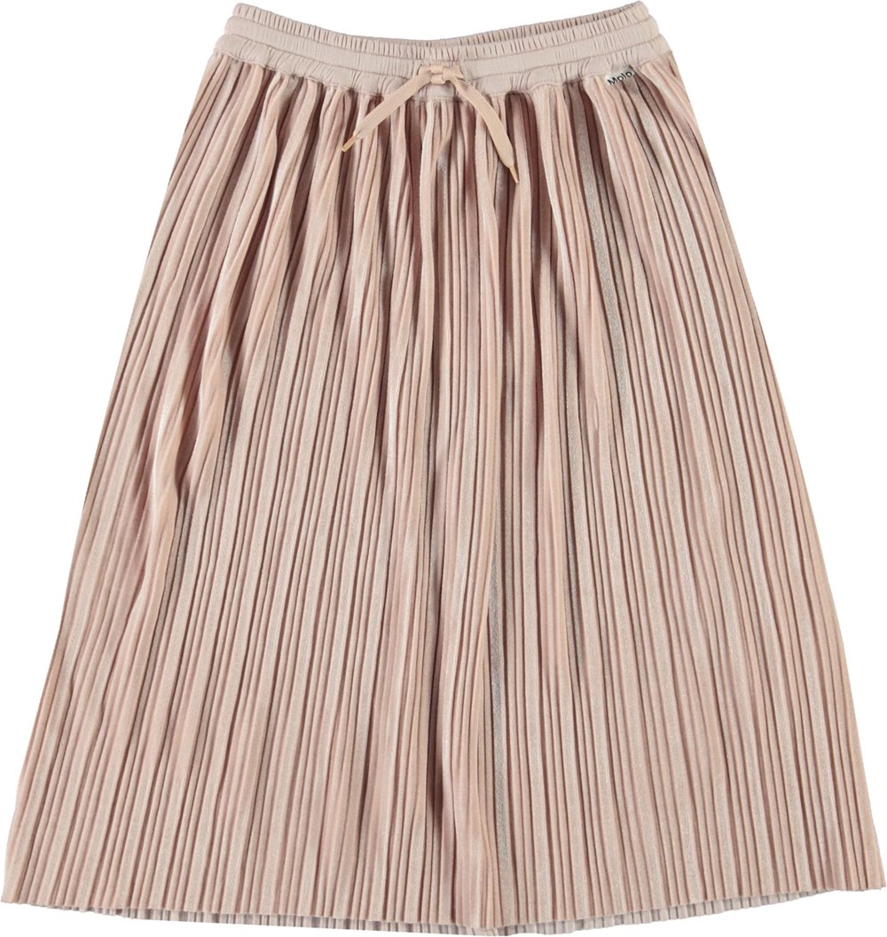 Becky - Cameo Rose - Pleated pink skirt with ties