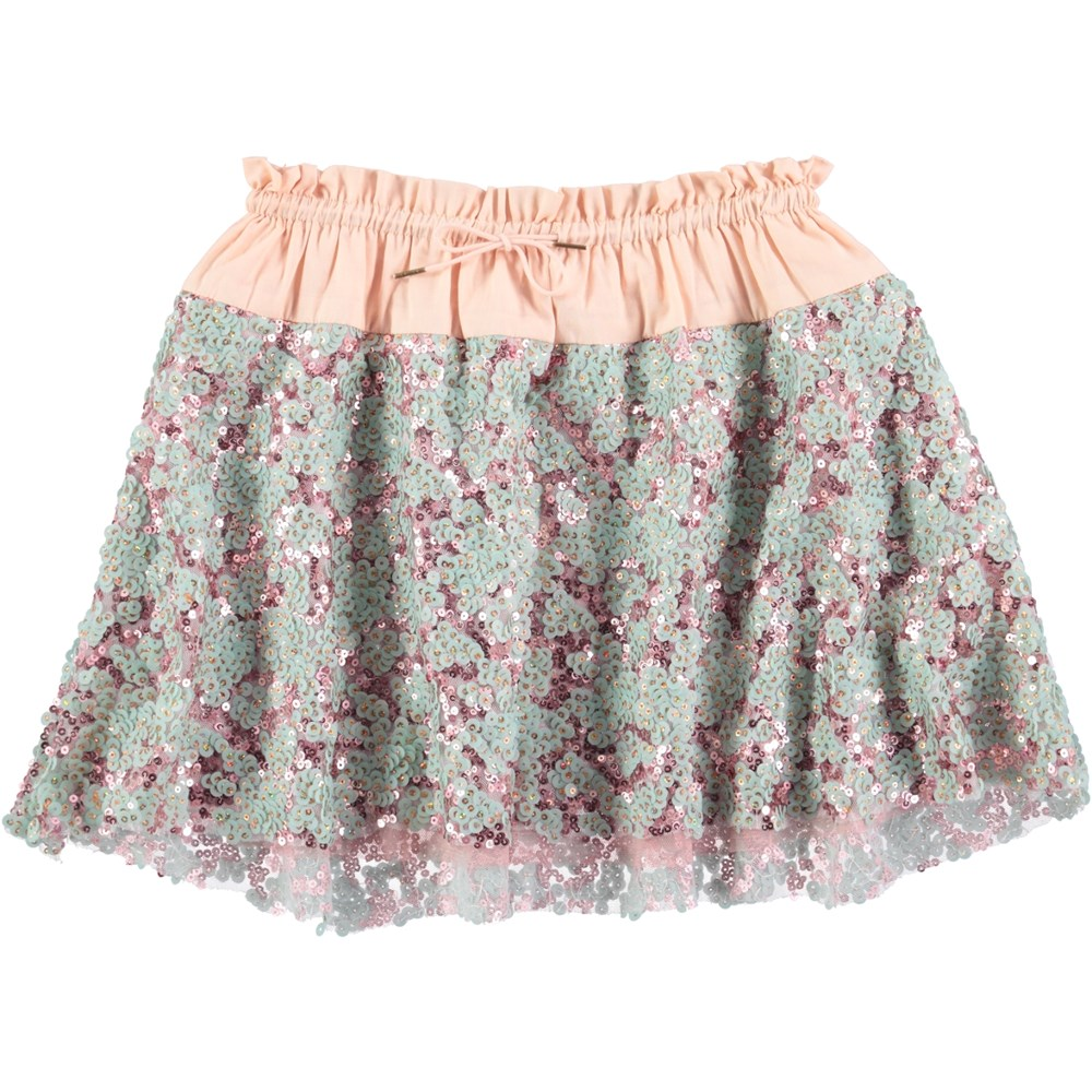 Bellis - Ice Flow Glitter - skirt with sequins