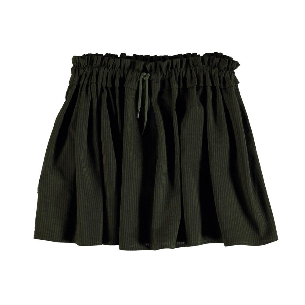 Benitta - Evergreen - Green striped skirt.