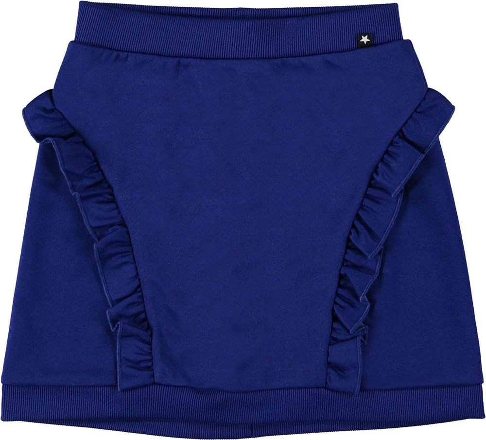 Beverly - Lapis Blue - Blue skirt with ruffles.