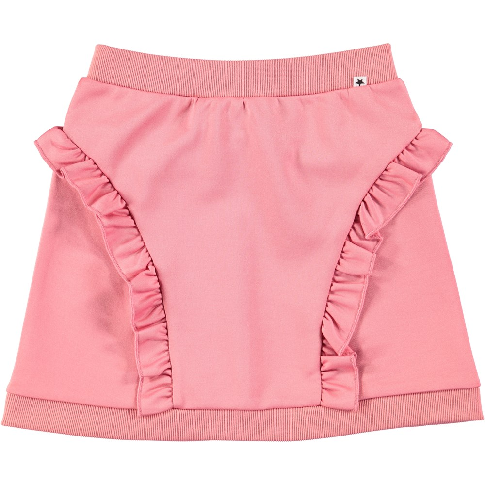 Beverly - Tea Rose - Pink skirt with ruffles