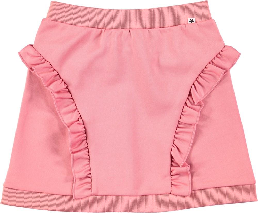 Beverly - Tea Rose - Pink skirt with ruffles