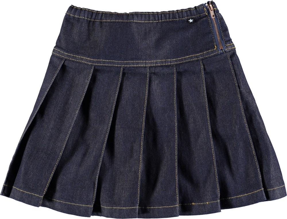 Bina - Raw Indigo - Dark blue denim skirt