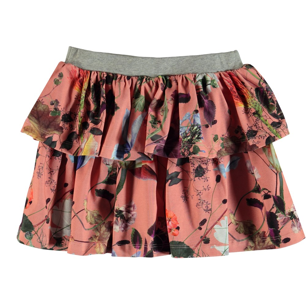 Bini - Flowers Of The World - Flowered two-layer skirt.