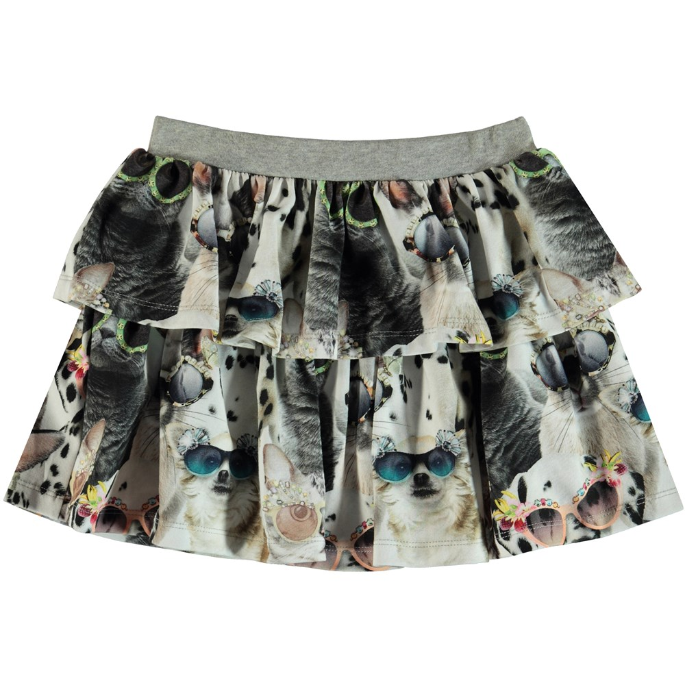 Bini - Sunny Funny - Skirt with a print of animals with sunglasses.