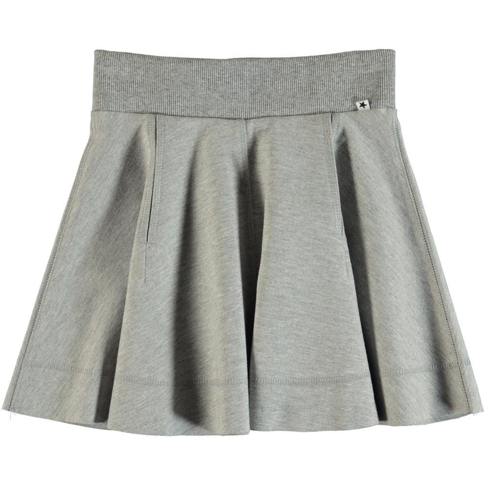 Bjoerk - Grey Melange - Grey skater skirt.