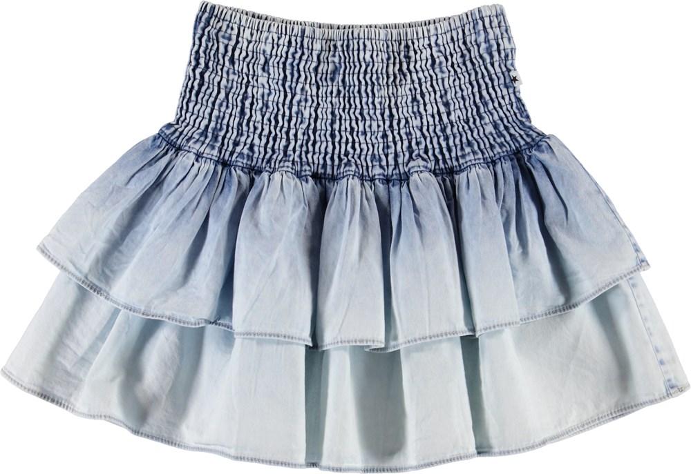 Bonita - Denim Bleached - Faded denim skirt