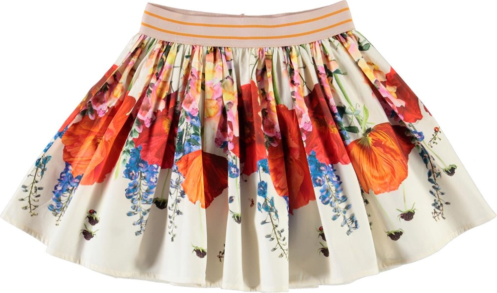 Brenda - Topsy Turvy - Organic skirt with flowers