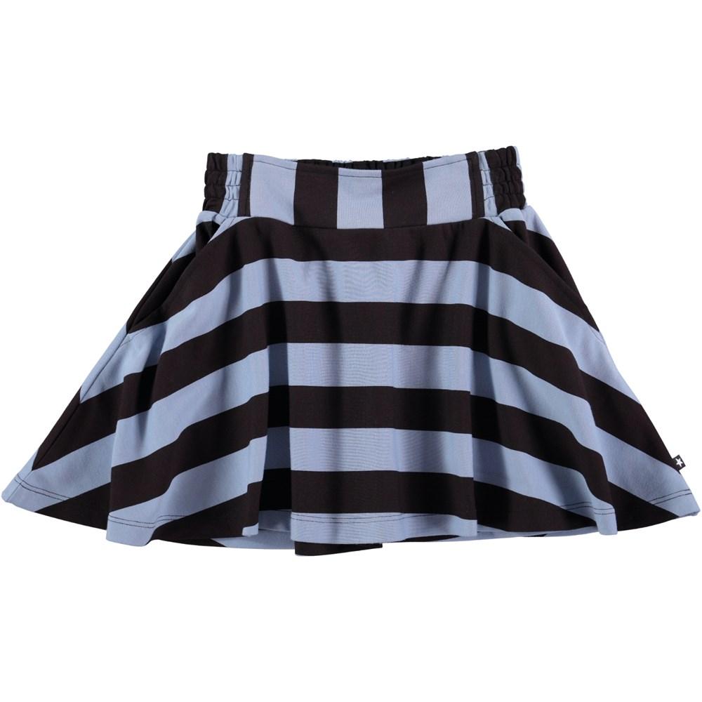 Brenna - Faded Denim Stripe - striped skirt