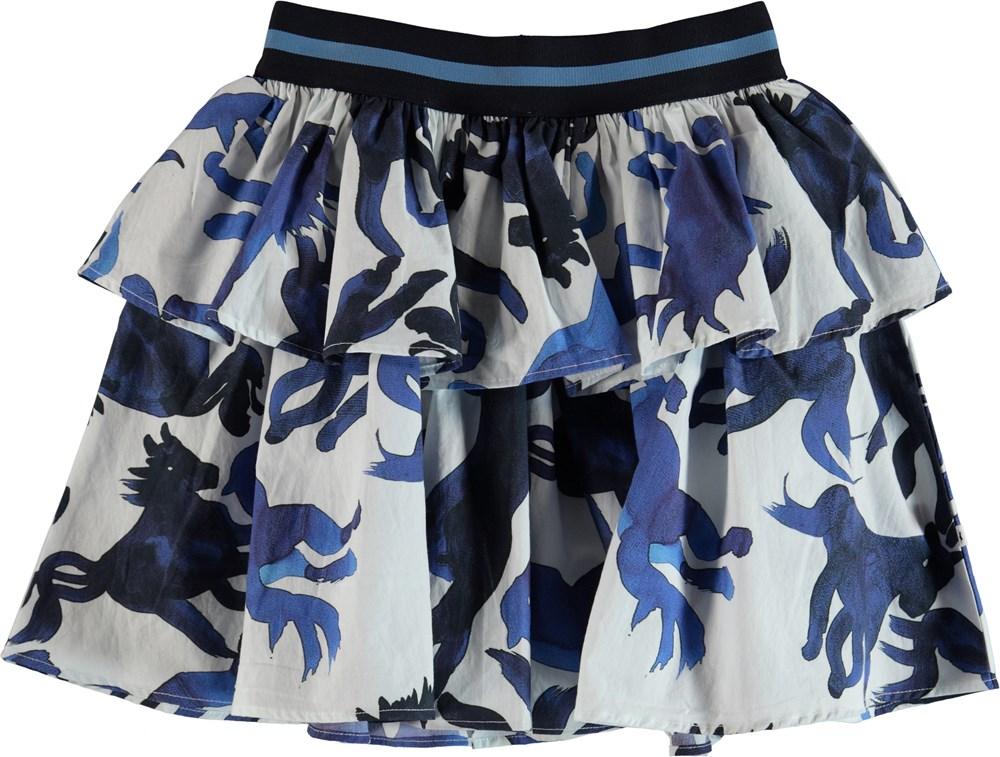 Brianna - Blau Horses - Skirt