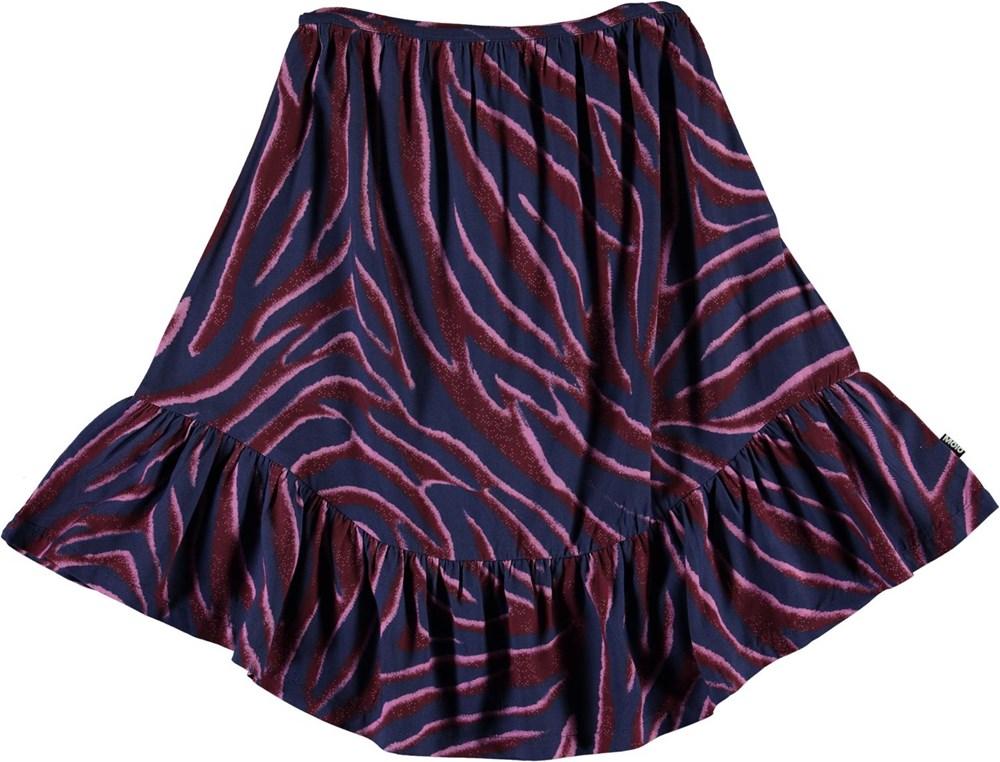 Brina - Zebra Stripes - Blue skirt with zebra stripes