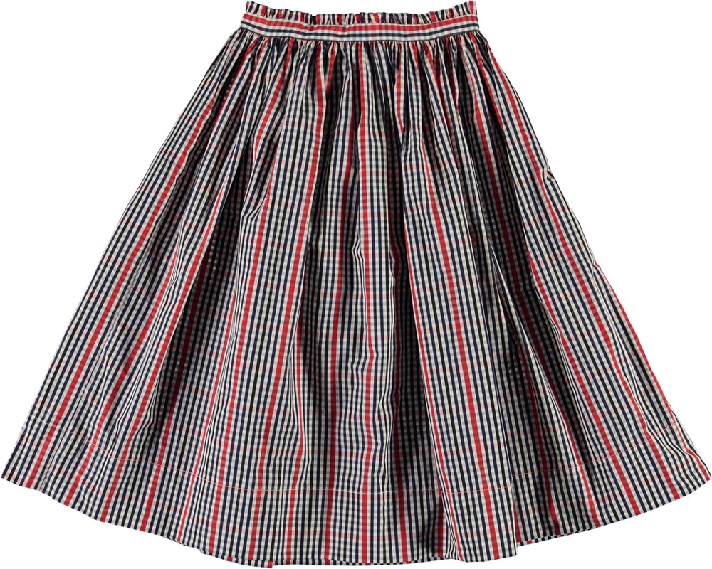 Brisa - Red And Blue - Black and red plaid skirt