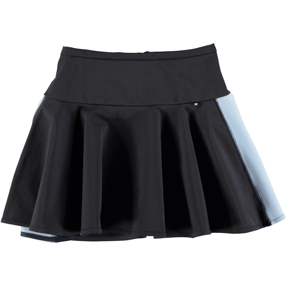 Britani - Dark Navy - Dark blue neoprene skirt