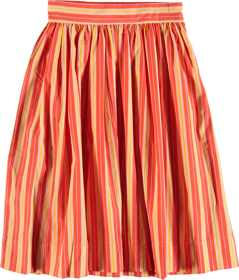 Brittany - Coral Sunrise Stripe - Skirt