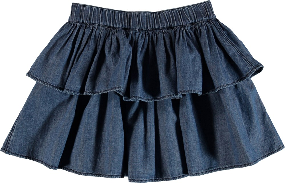 Brooke - Washed Indigo - Skirt