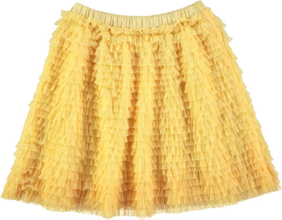 Brunhilda - Raffia - Yellow layer-on-layer tulle skirt