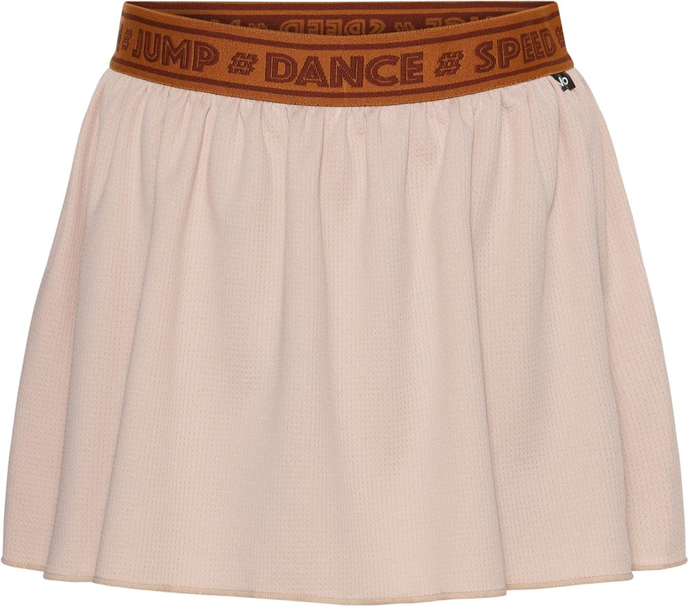Ola - Cameo Rose - Rosa sports skirt with brown shorts
