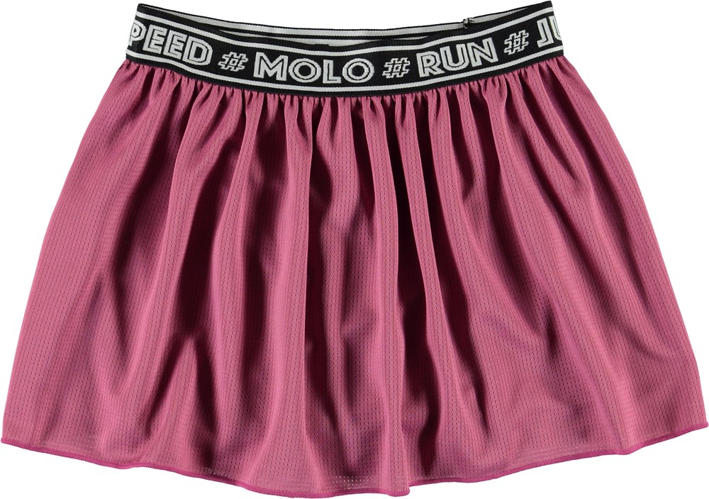 Ola - Red Violet - Pink sport skirt with shorts