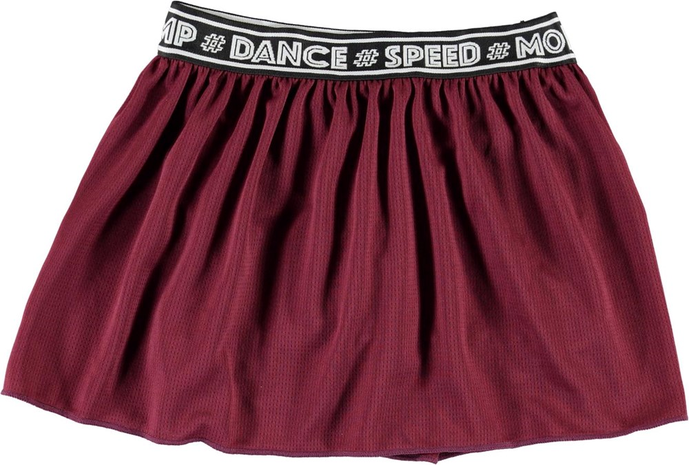 Ola - Sumak - Dark red sports skirt with shorts