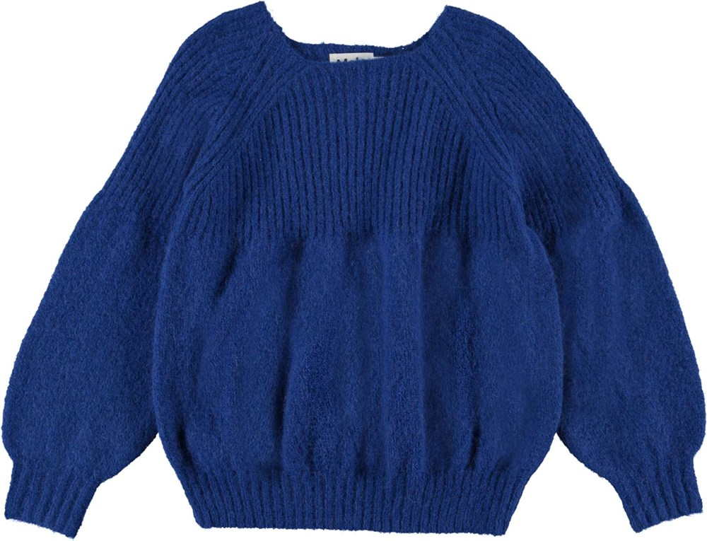 Gabriela - Reef Blue - Blue knit with large sleeves