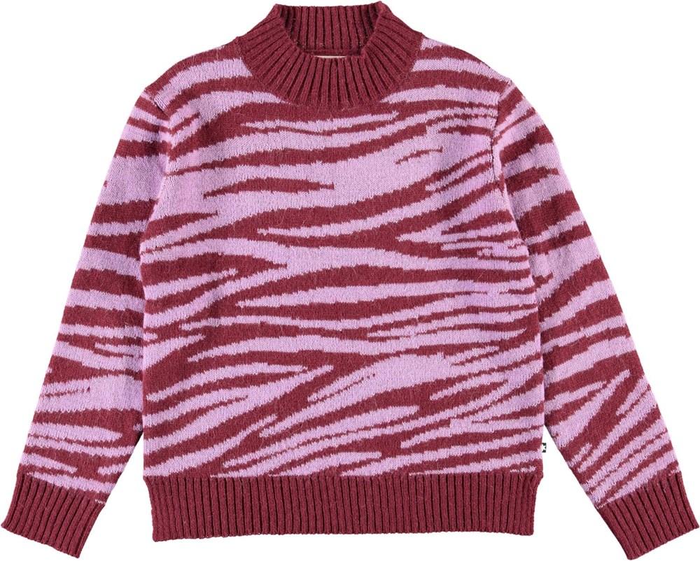 Gady - Zebra Knit - Zebra striped knit top