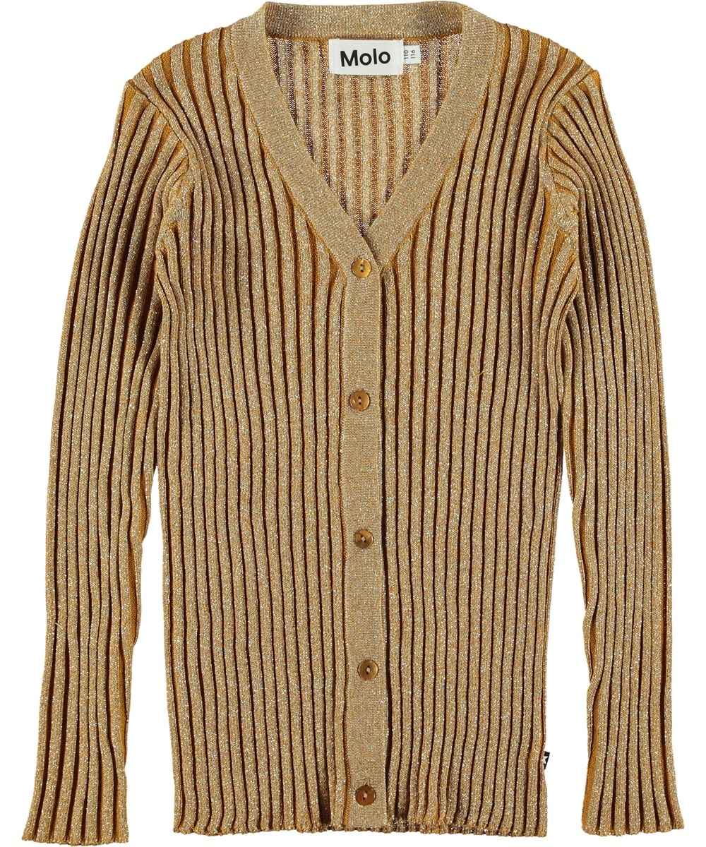 Genie - Autumn Leaf - Gold coloured cardigan.