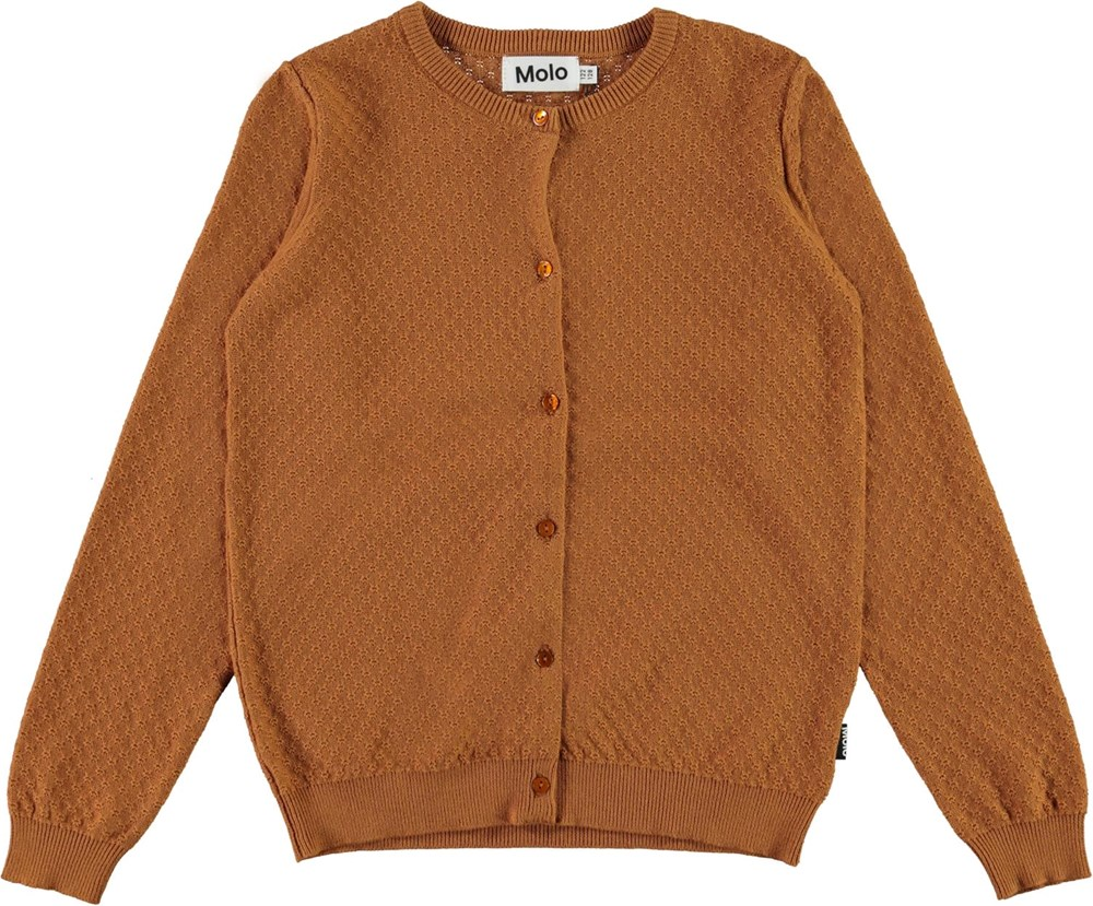 Georgina - Deer - Brown organic cotton cardigan