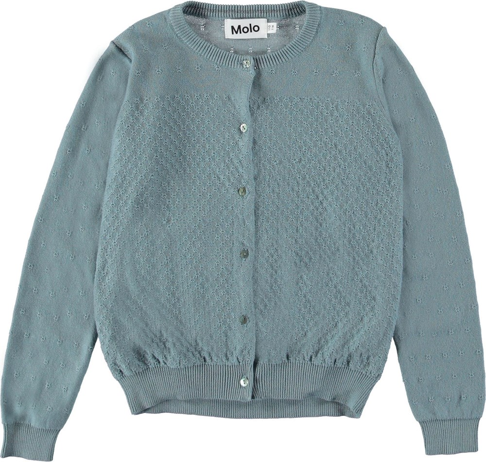 Georgina - Misty Blue - Light blue cardigan.