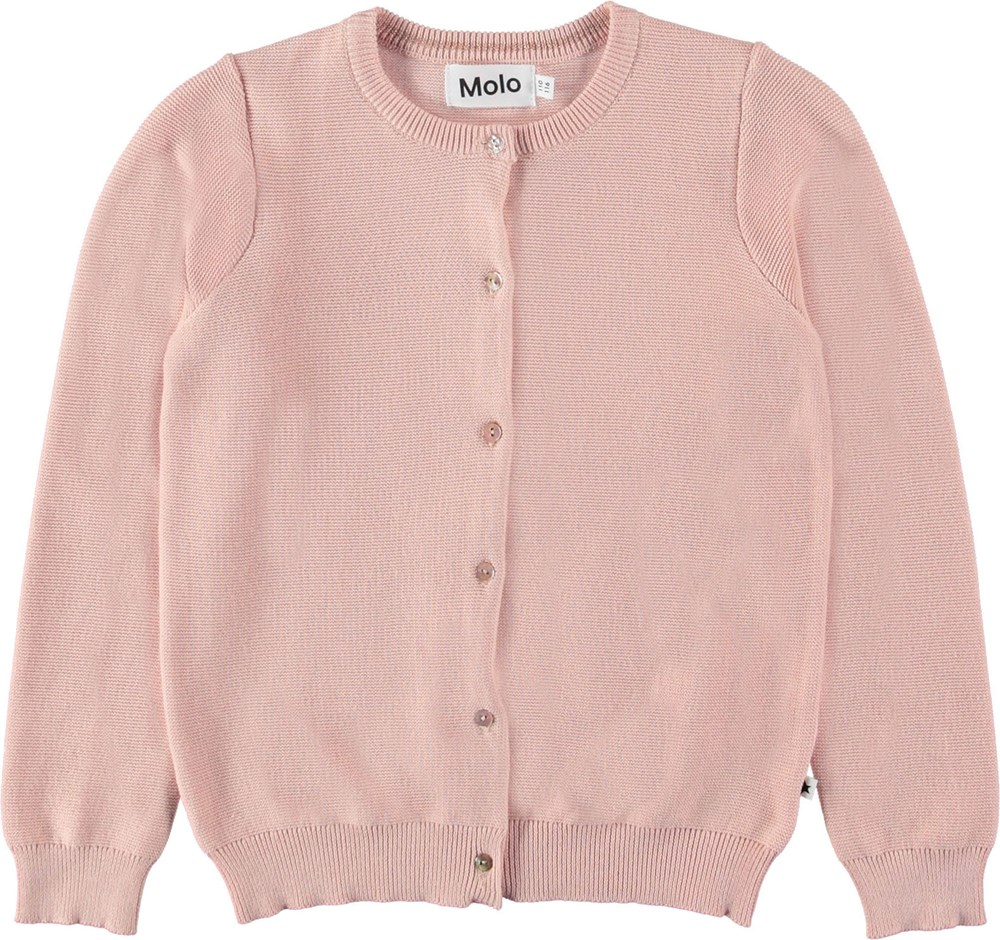 Georgina - Petal Blush - Rose cardigan.