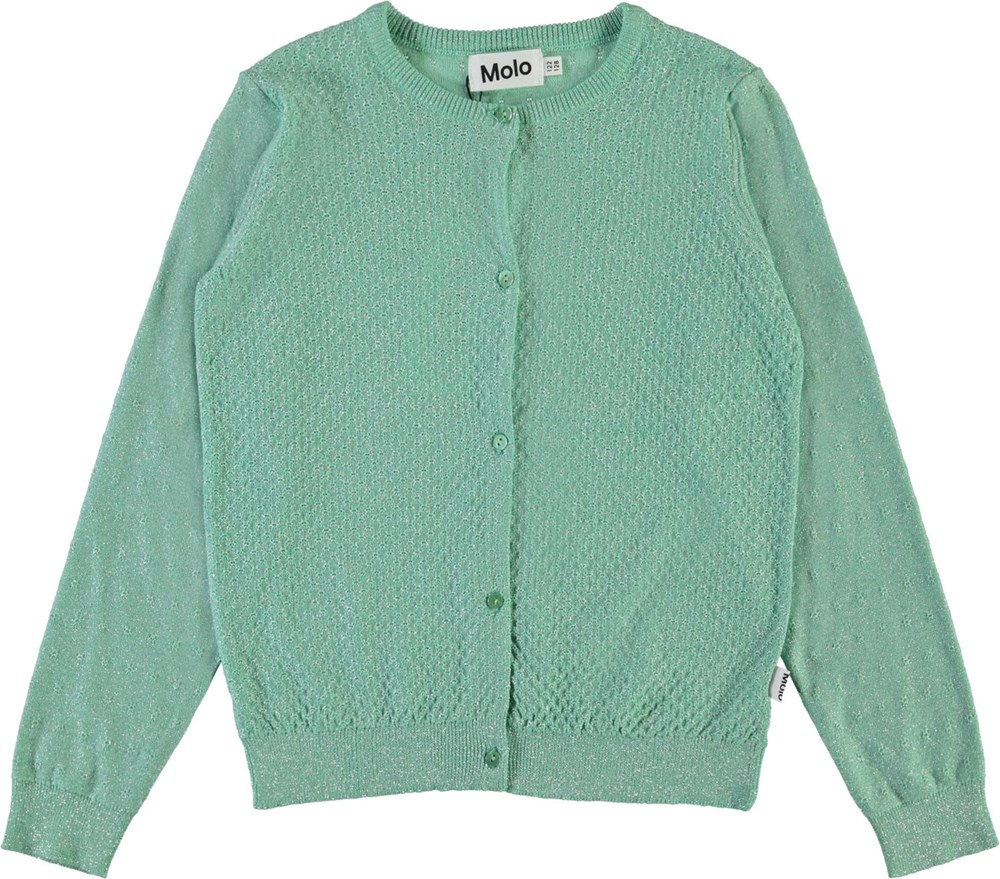 Georgina - Pistachio - Green cotton cardigan