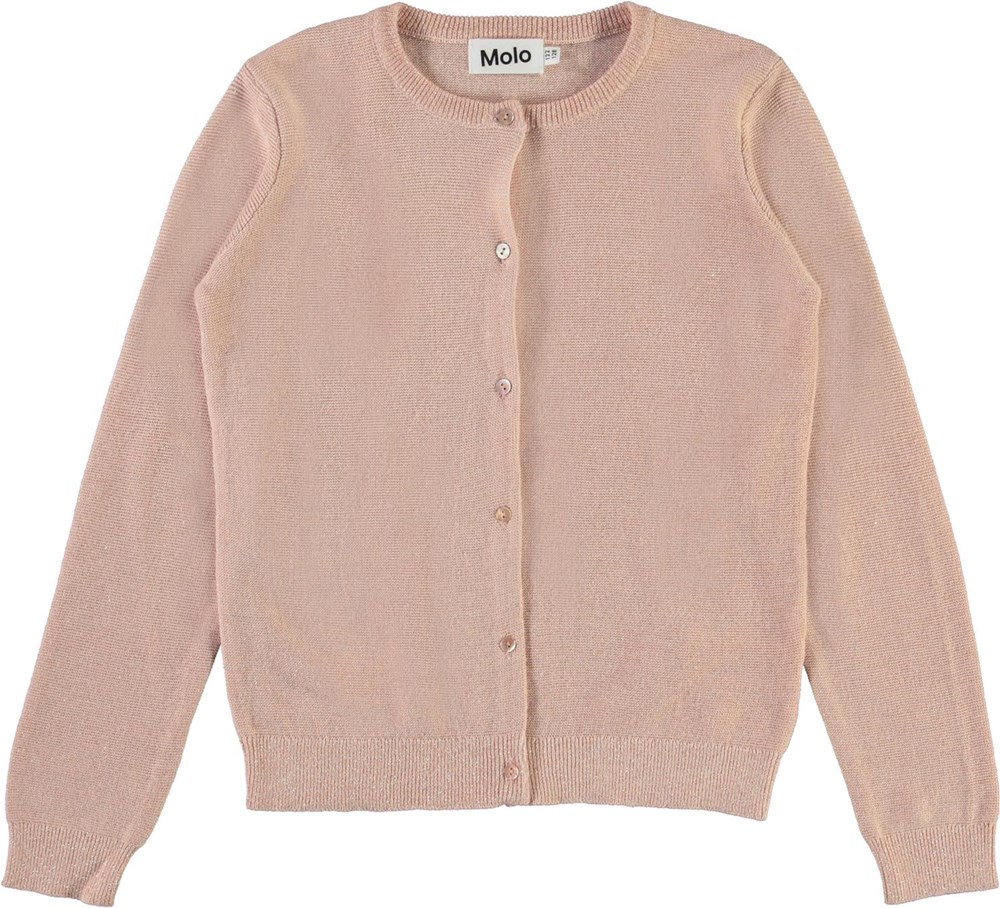 Georgina - Powder - Rose cotton cardigan