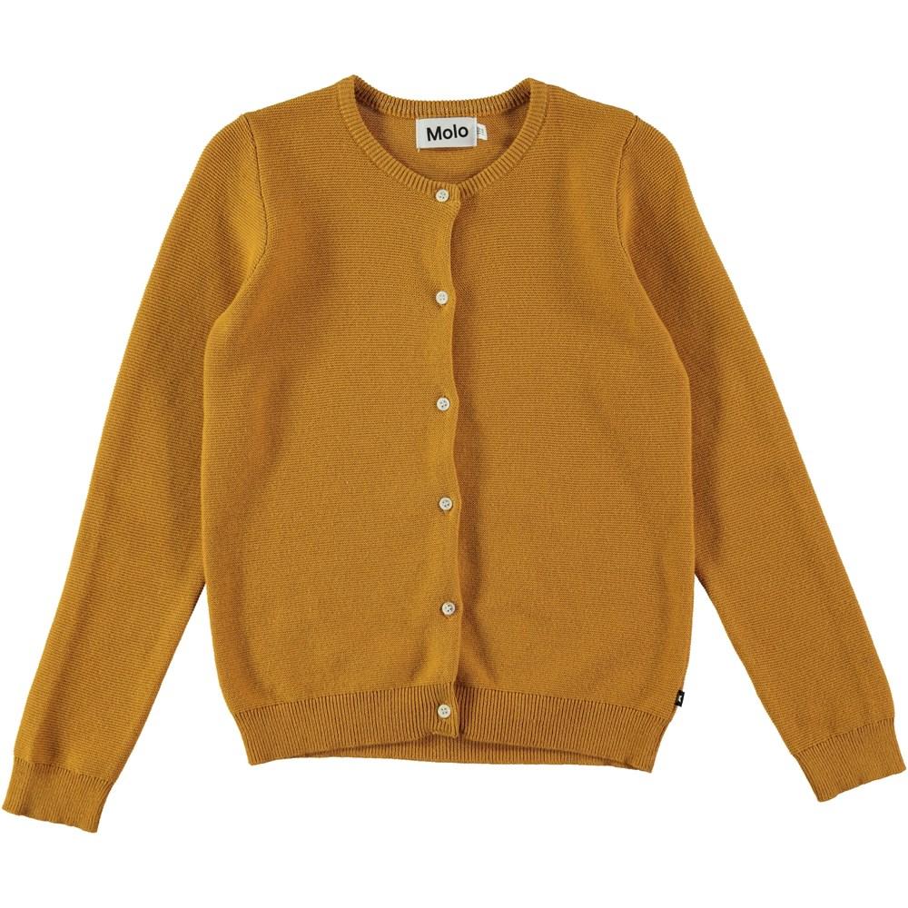 Georgina - Yellow Rock - curry yellowl cardigan with buttons