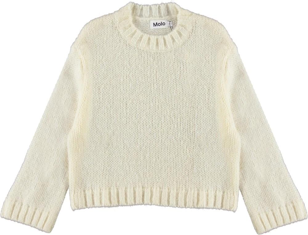 Gertina - Marzipan - Light yellow wool knit top