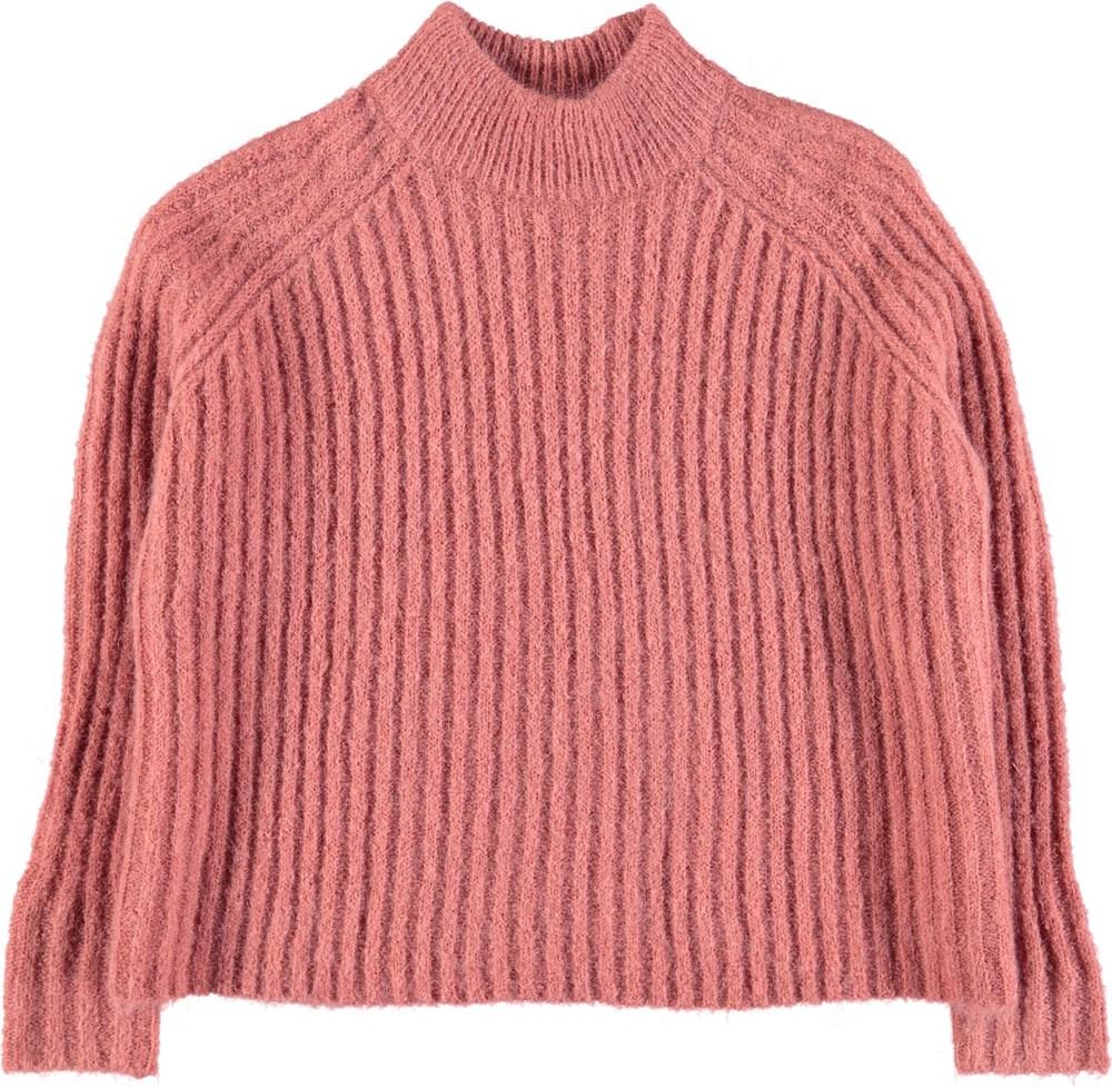 Gertrude - Blush - Mørk rose coloured cropped knit