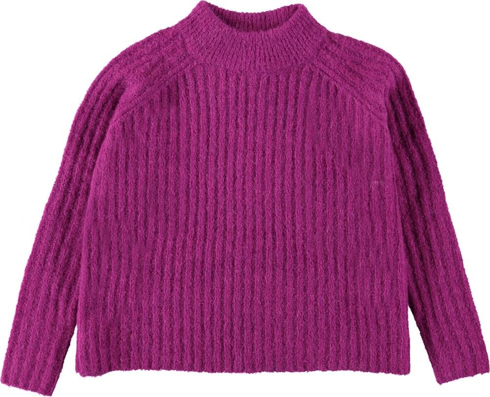 Gertrude - Wild Purpur - Purple knit sweater.