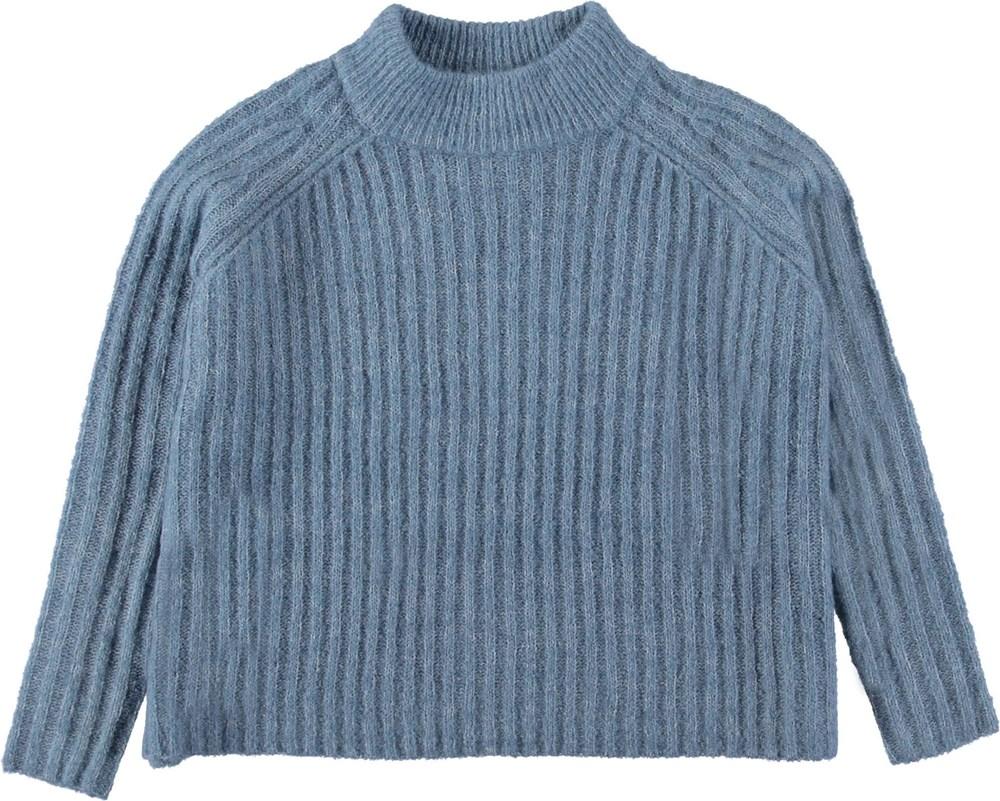 Gertrude - Winter Sky - Blue knit sweater.