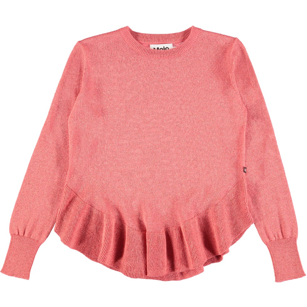 Gilberte - Winter Rose - Grape red cotton knit with glitter