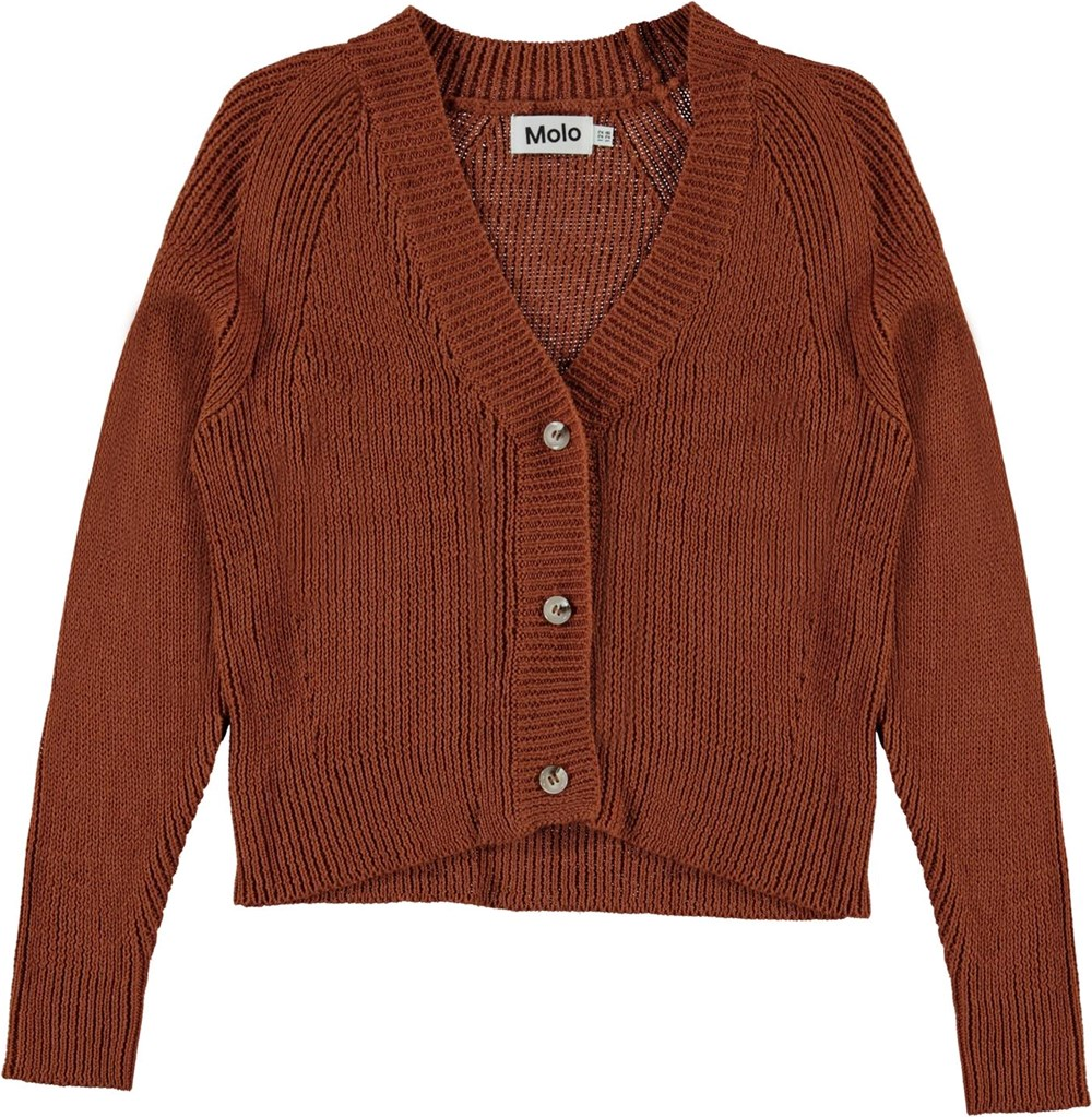 Gilda - Autumn - Brown knit cardigan